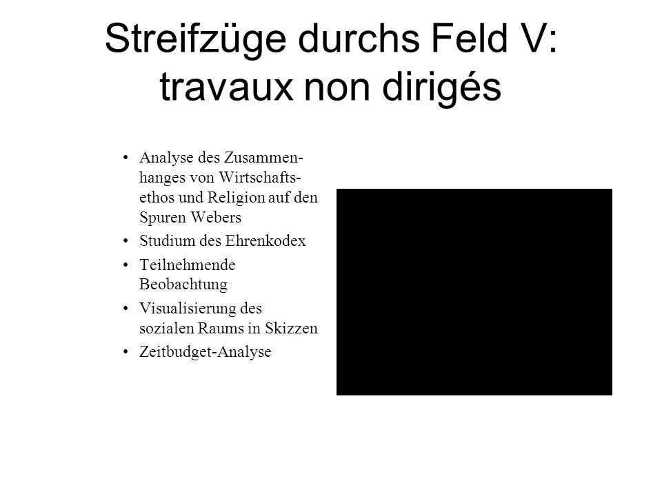 Streifzüge durchs Feld V: travaux non dirigés