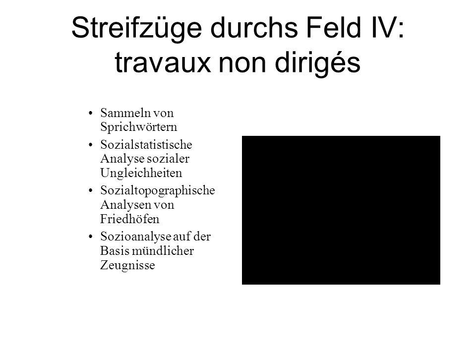 Streifzüge durchs Feld IV: travaux non dirigés