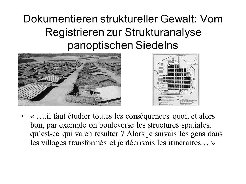 Dokumentieren struktureller Gewalt: Vom Registrieren zur Strukturanalyse panoptischen Siedelns