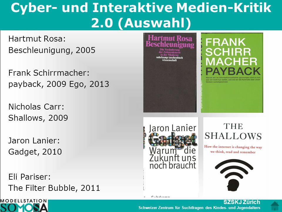 Cyber- und Interaktive Medien-Kritik 2.0 (Auswahl)