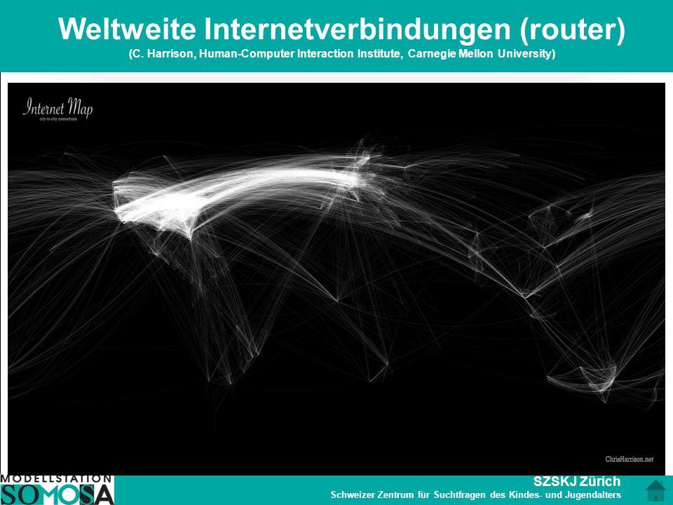 Weltweite Internetverbindungen (router) (C