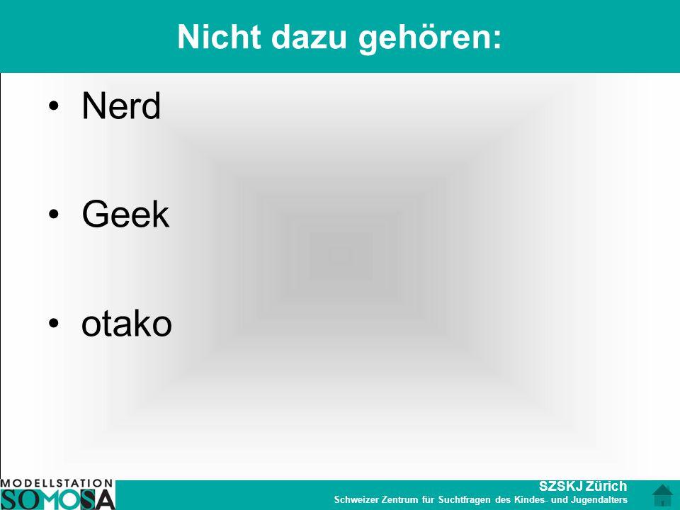 Nicht dazu gehören: Nerd Geek otako