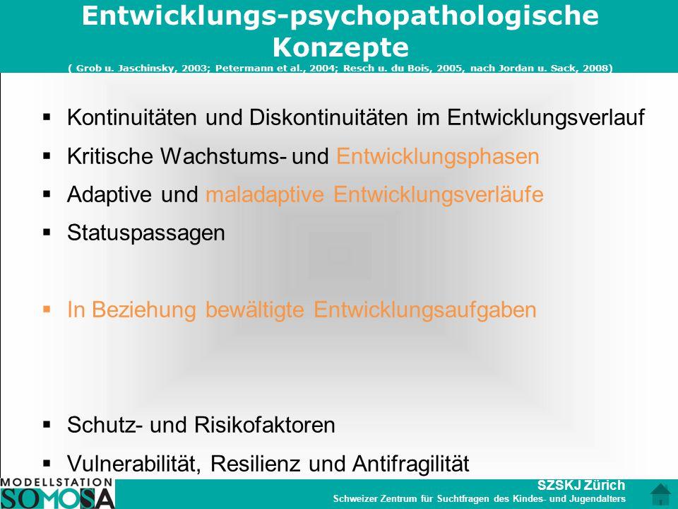 Entwicklungs-psychopathologische Konzepte ( Grob u