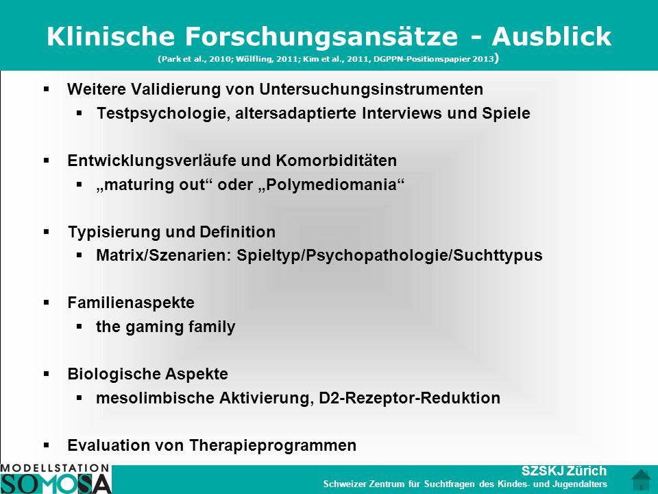 Klinische Forschungsansätze - Ausblick (Park et al