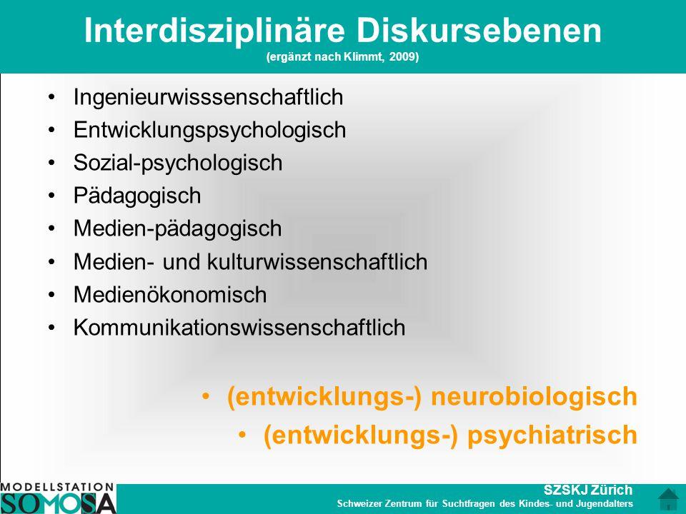 Interdisziplinäre Diskursebenen (ergänzt nach Klimmt, 2009)