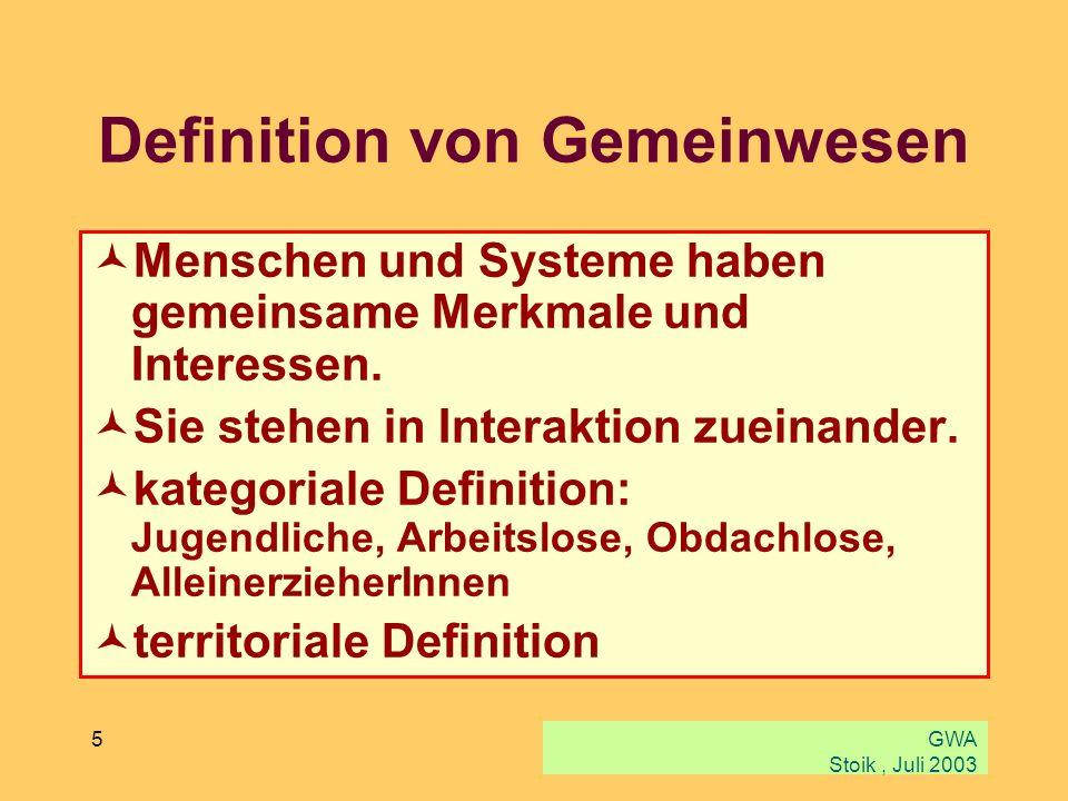Definition von Gemeinwesen