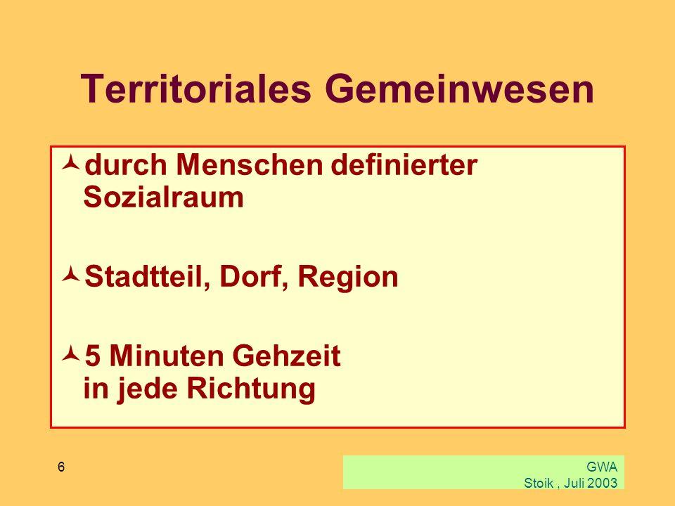 Territoriales Gemeinwesen
