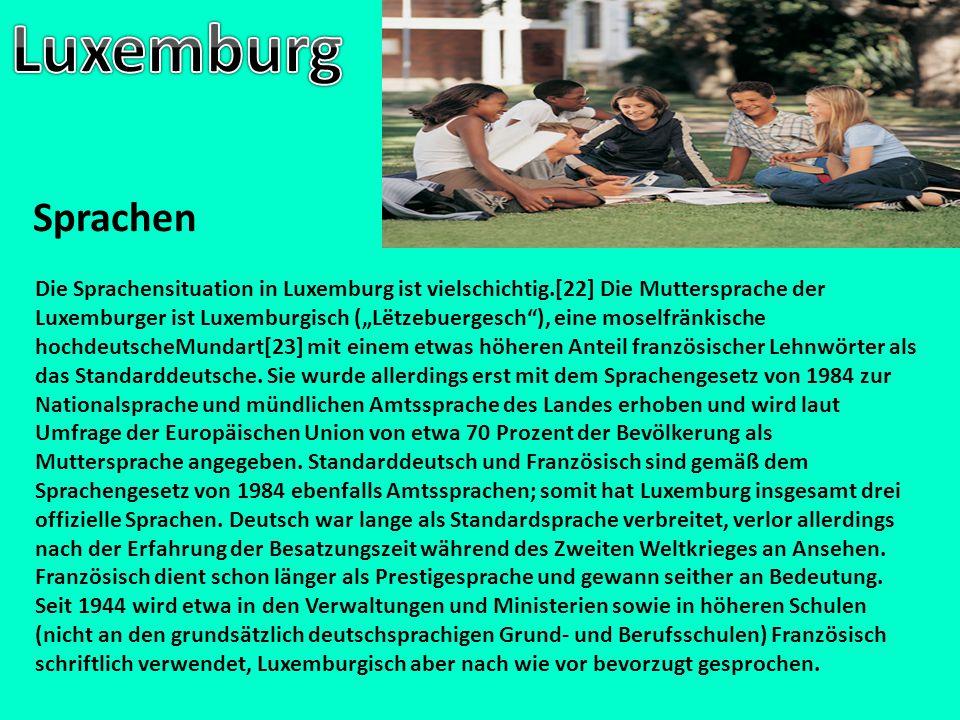 Luxemburg Sprachen.