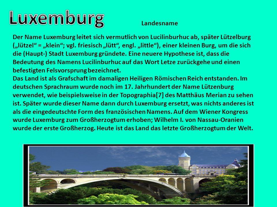 Luxemburg Landesname.