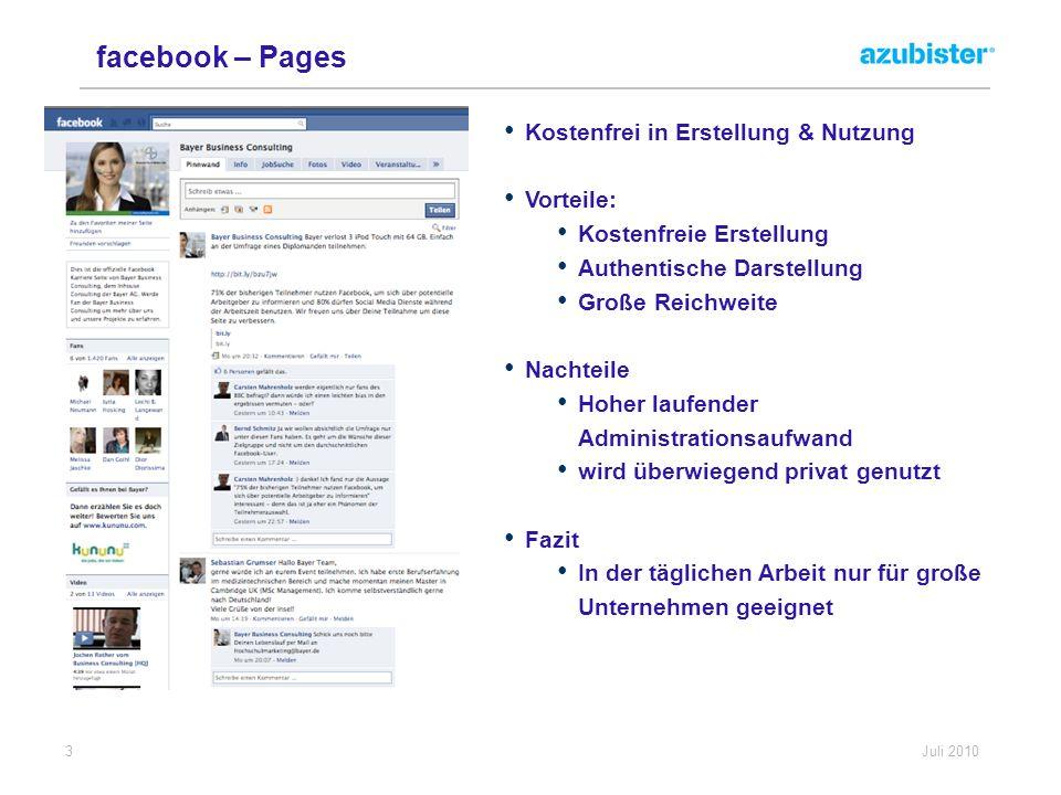facebook – Pages Kostenfrei in Erstellung & Nutzung Vorteile: