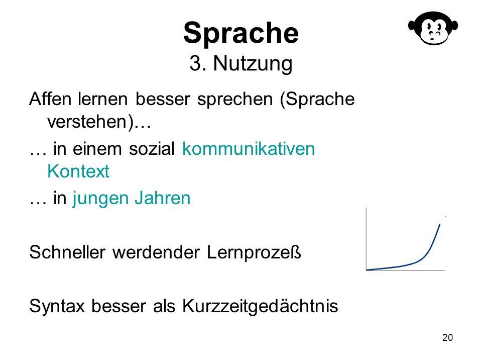 Sprache 3. Nutzung Affen lernen besser sprechen (Sprache verstehen)…