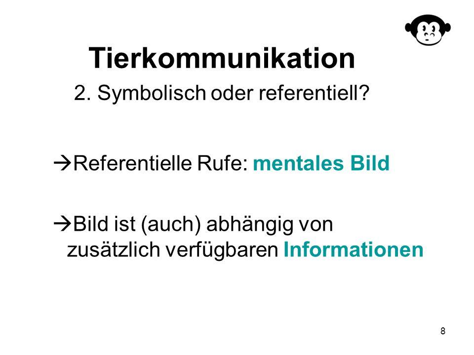 Tierkommunikation 2. Symbolisch oder referentiell