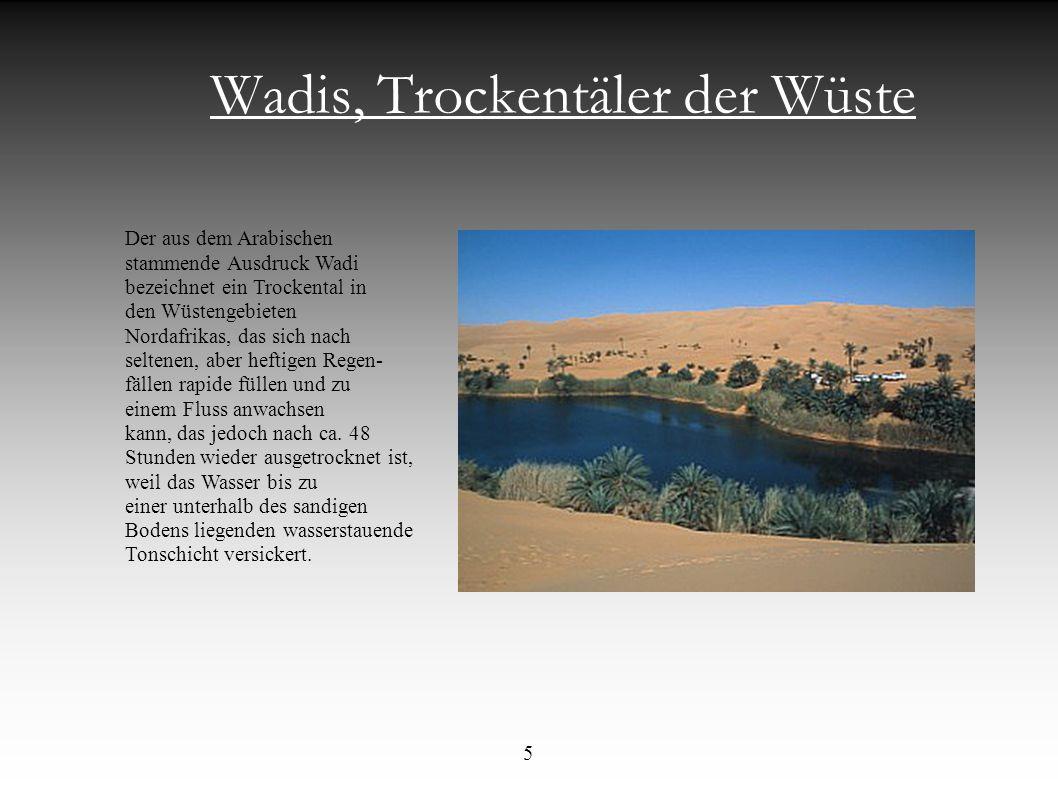 Wadis, Trockentäler der Wüste