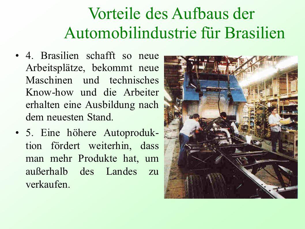 Vorteile des Aufbaus der Automobilindustrie für Brasilien