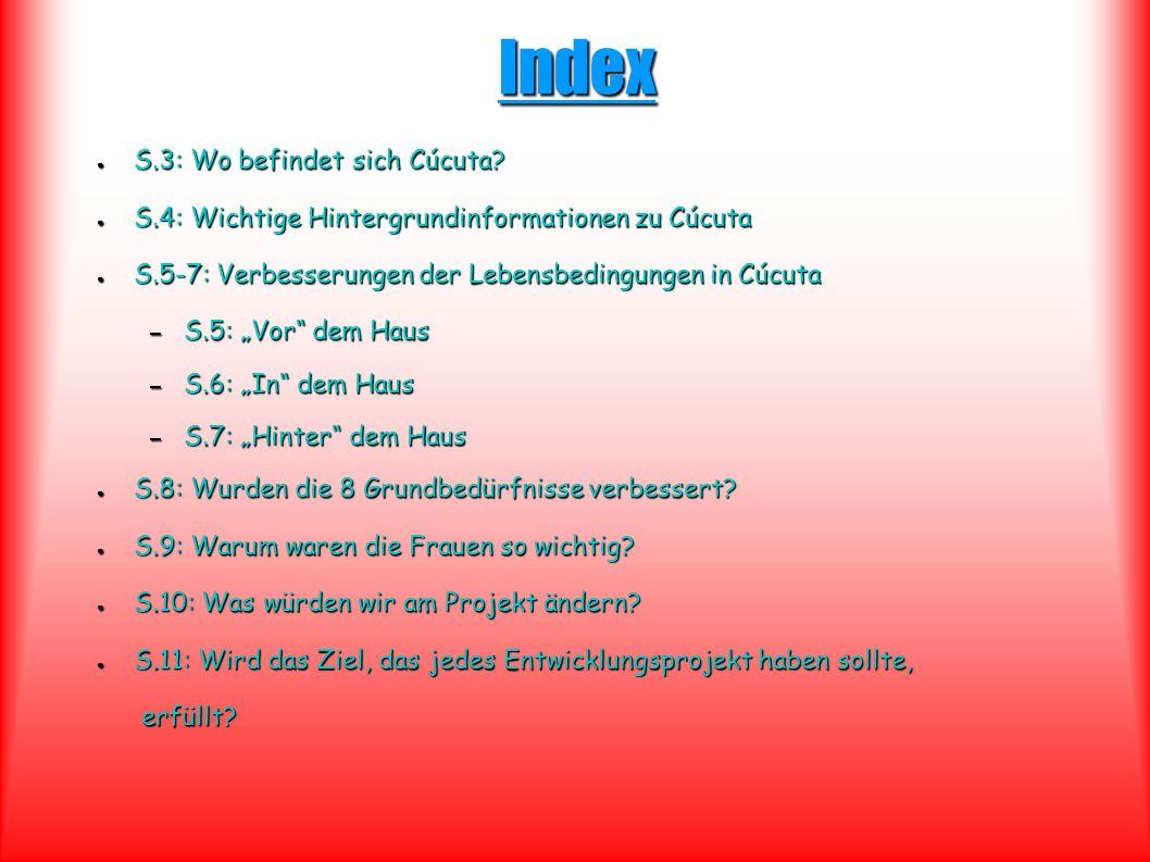 Index S.3: Wo befindet sich Cúcuta