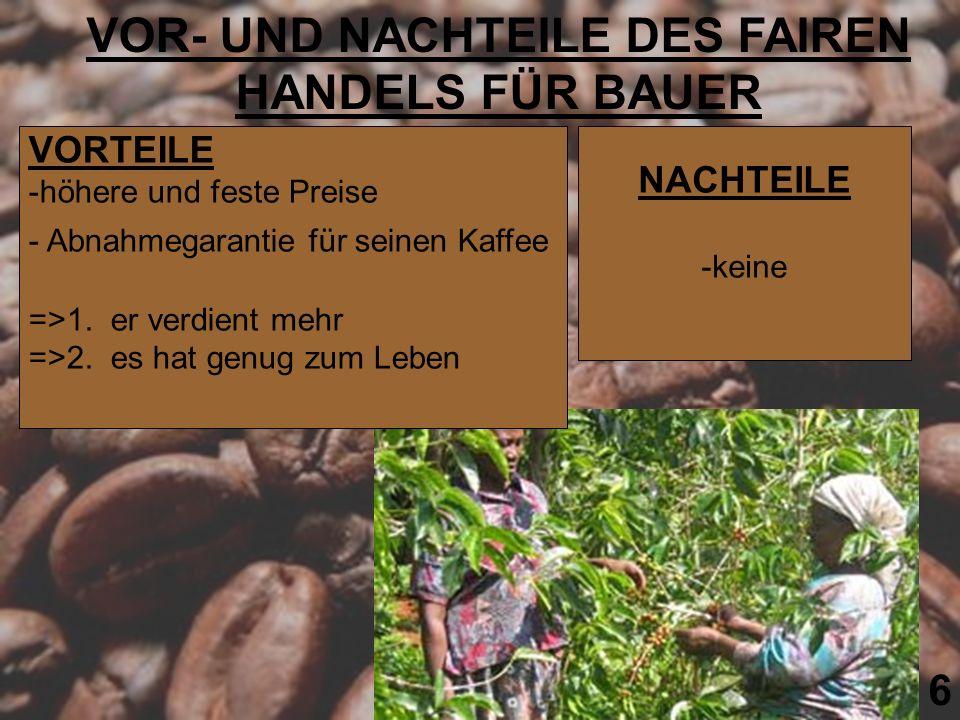 VOR- UND NACHTEILE DES FAIREN HANDELS FÜR BAUER