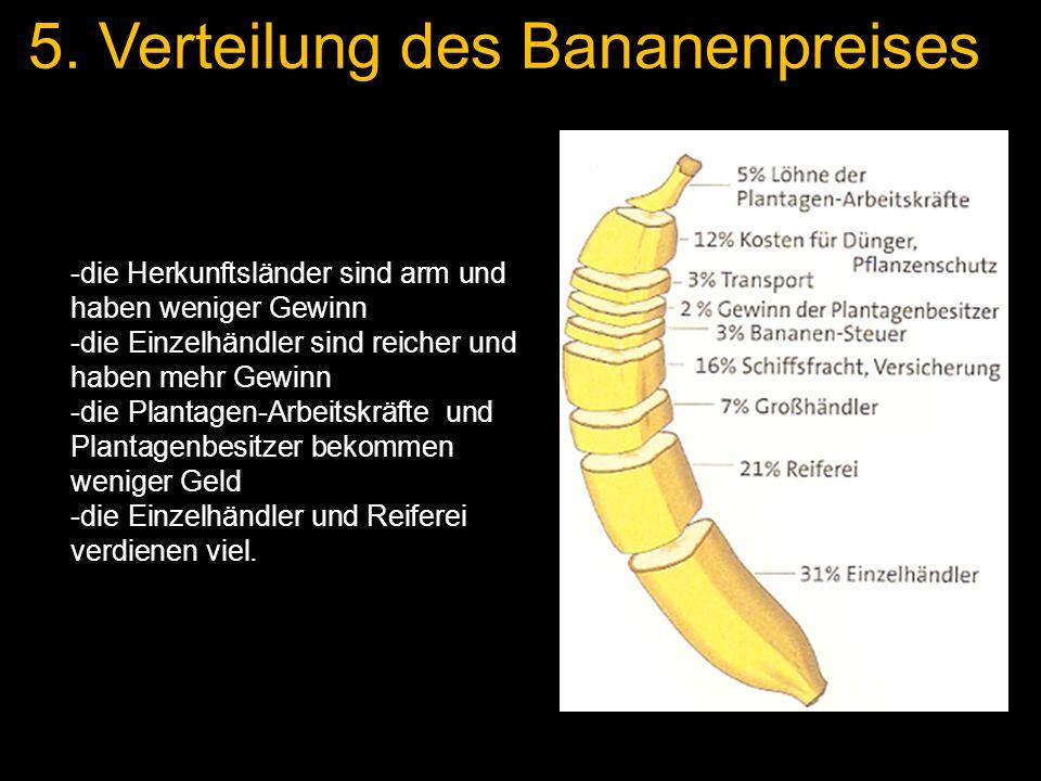 5. Verteilung des Bananenpreises