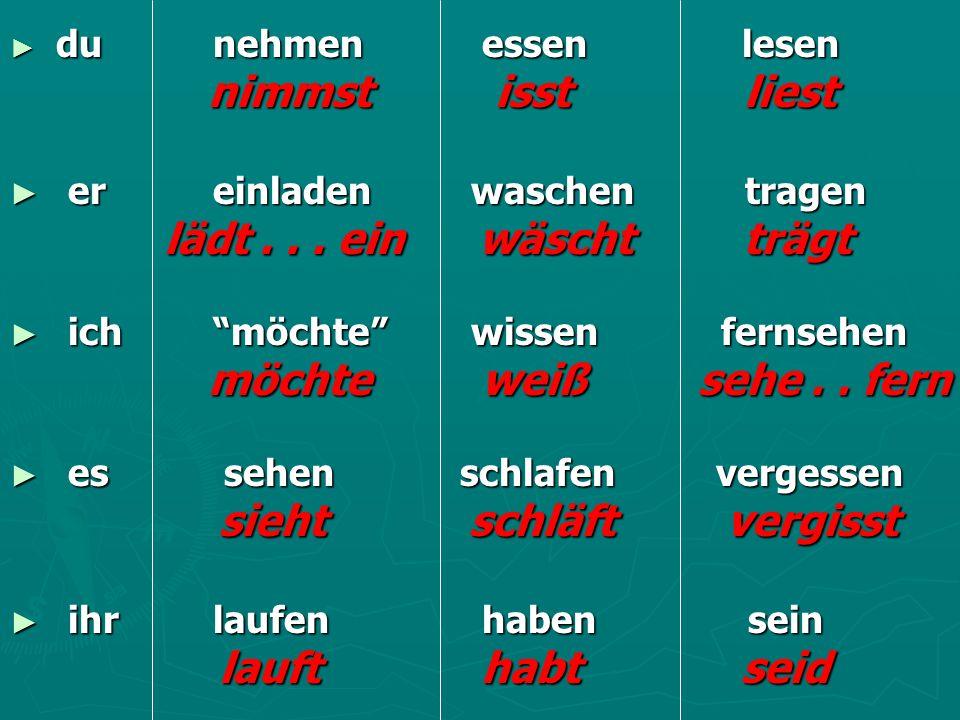 irregular verbs (kontakte ea – k2) - ppt herunterladen, Einladungen