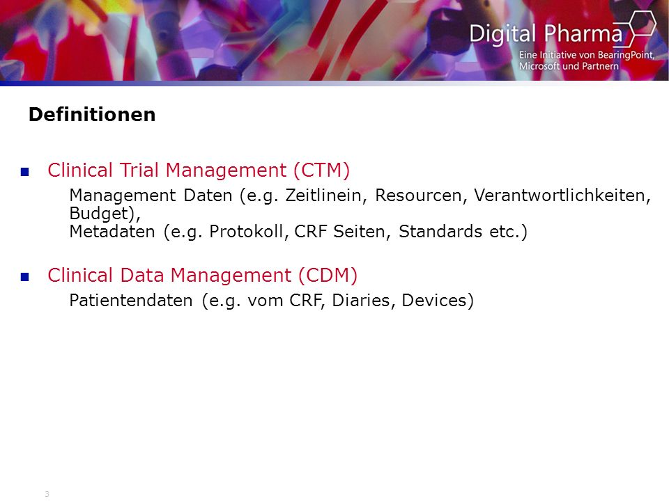 Clinical Trial Management (CTM)