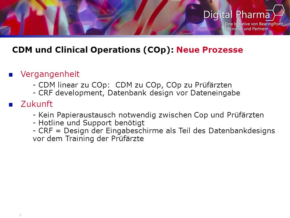 CDM und Clinical Operations (COp): Neue Prozesse