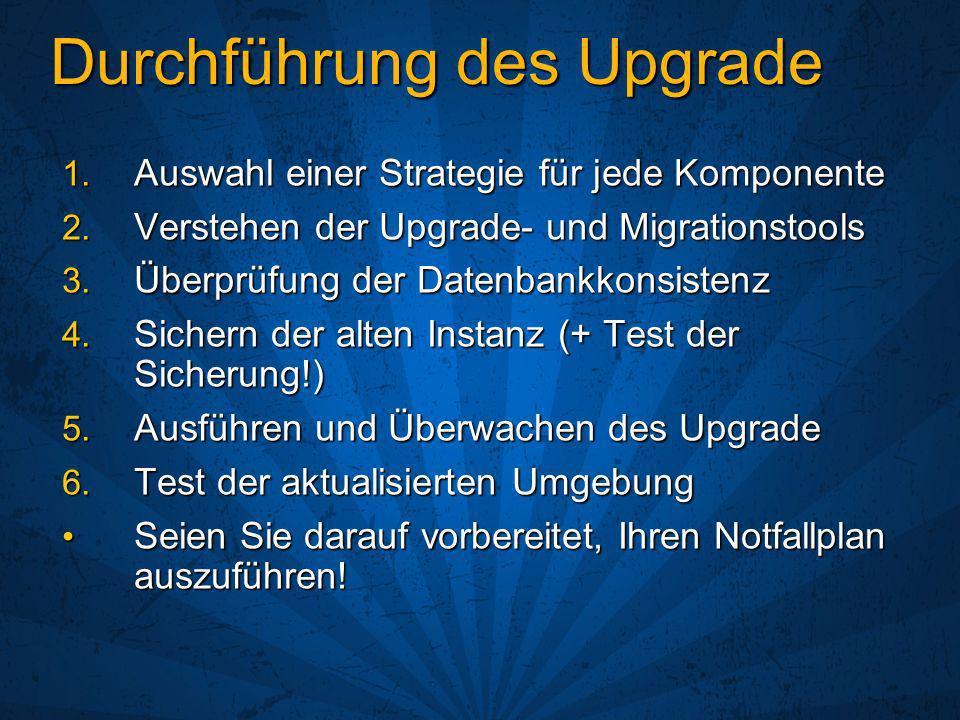 Durchführung des Upgrade