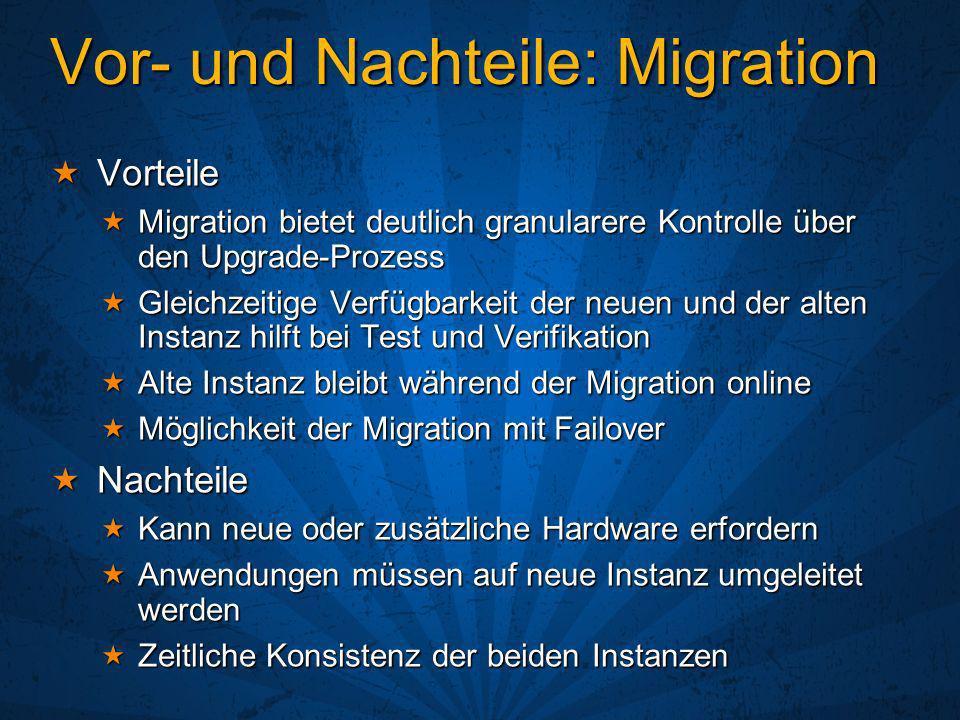 Vor- und Nachteile: Migration
