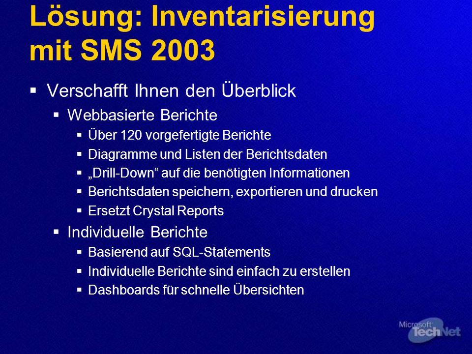Lösung: Inventarisierung mit SMS 2003