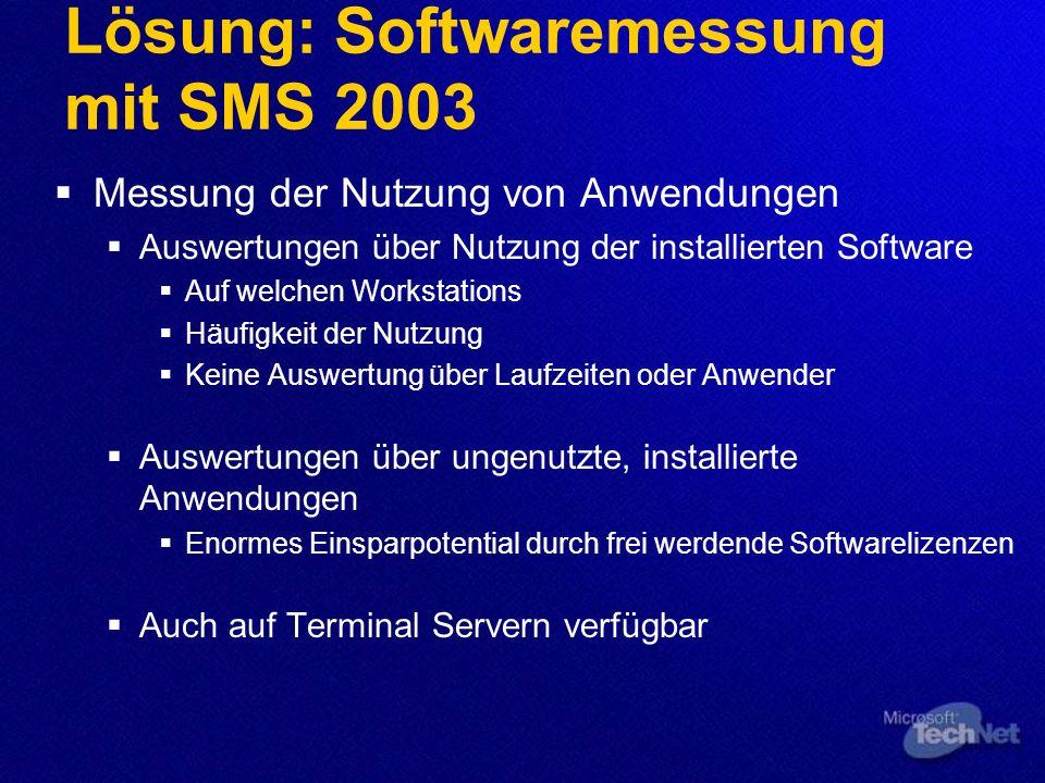 Lösung: Softwaremessung mit SMS 2003