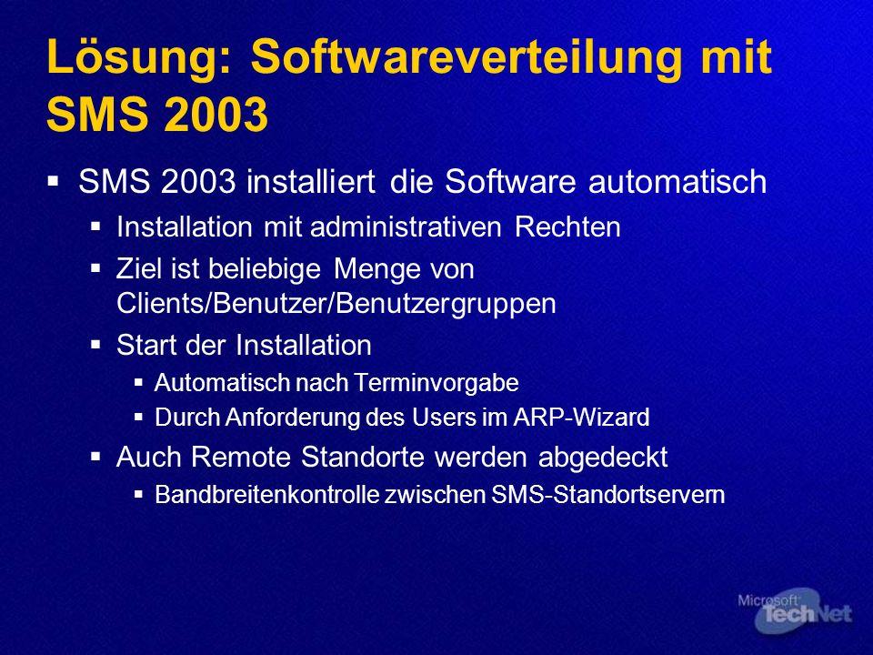 Lösung: Softwareverteilung mit SMS 2003