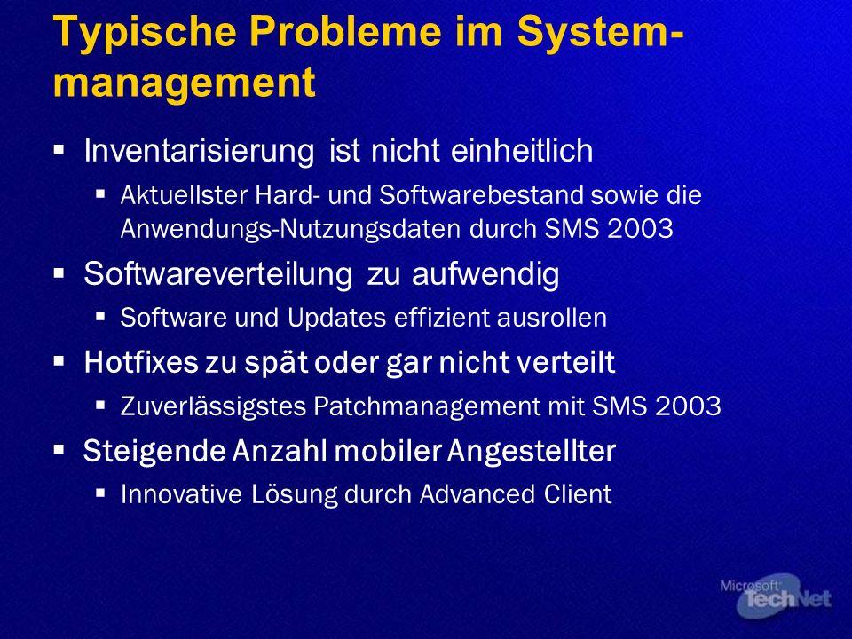 Typische Probleme im System-management