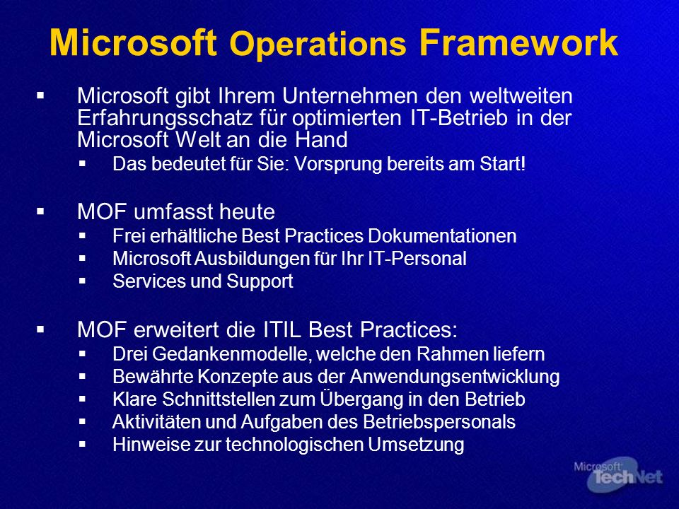 Microsoft Operations Framework