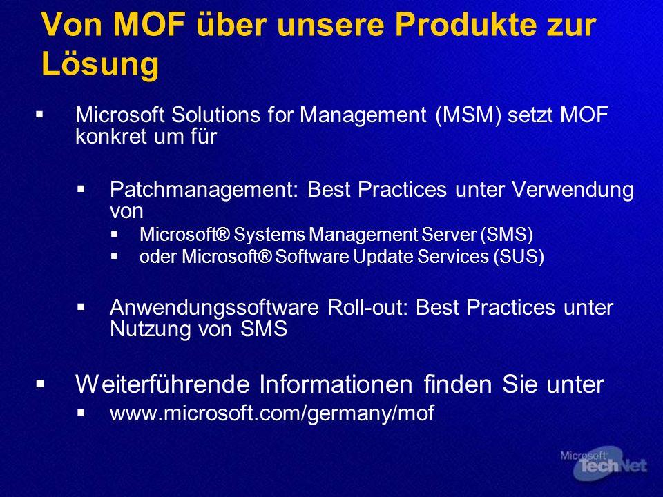 Von MOF über unsere Produkte zur Lösung