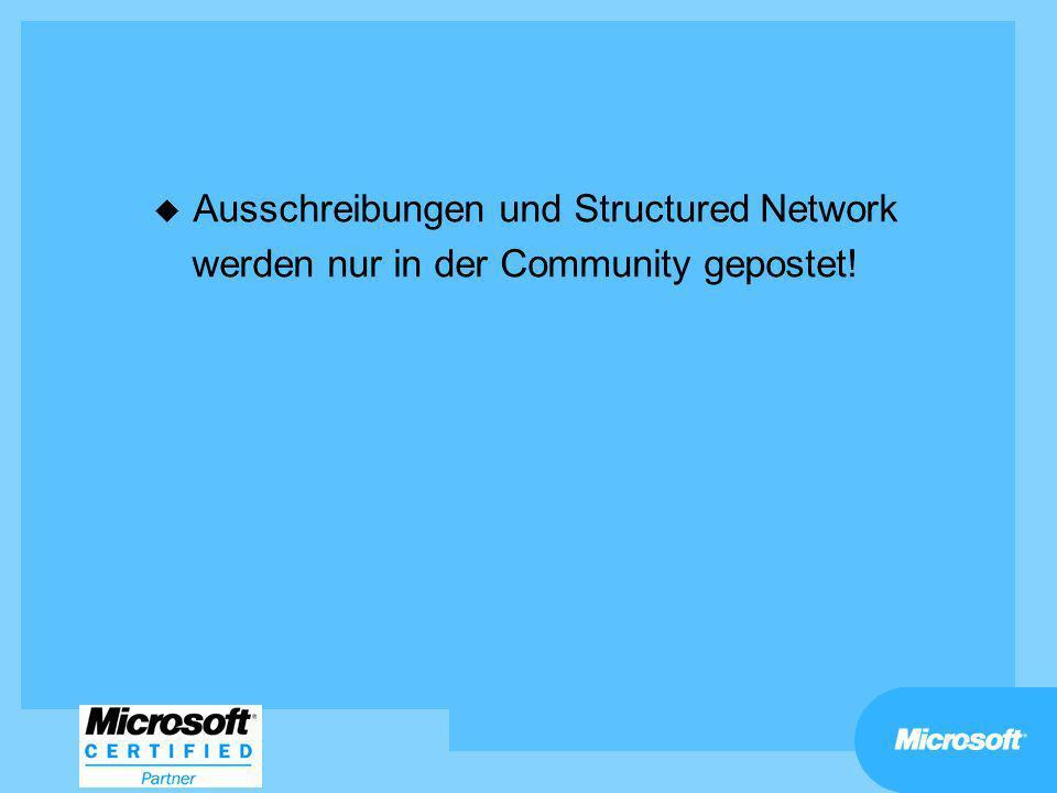 Ausschreibungen und Structured Network