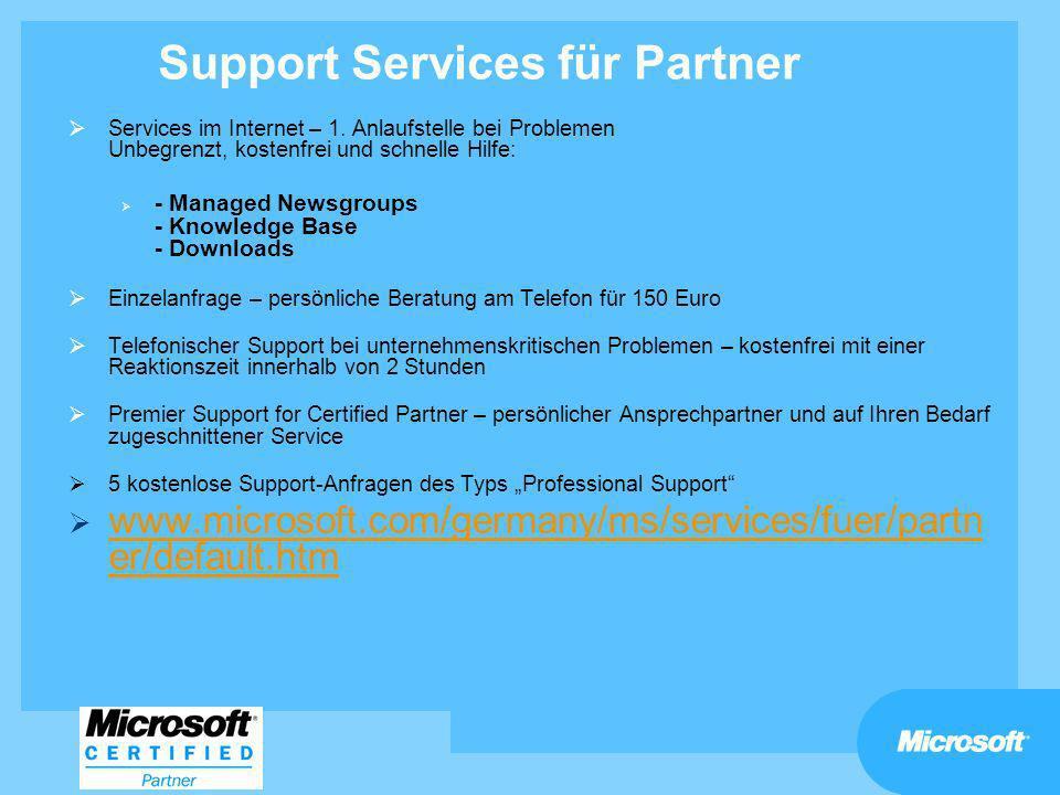 Support Services für Partner