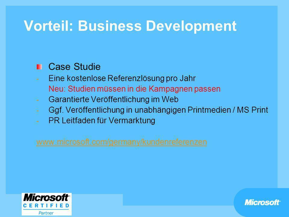 Vorteil: Business Development