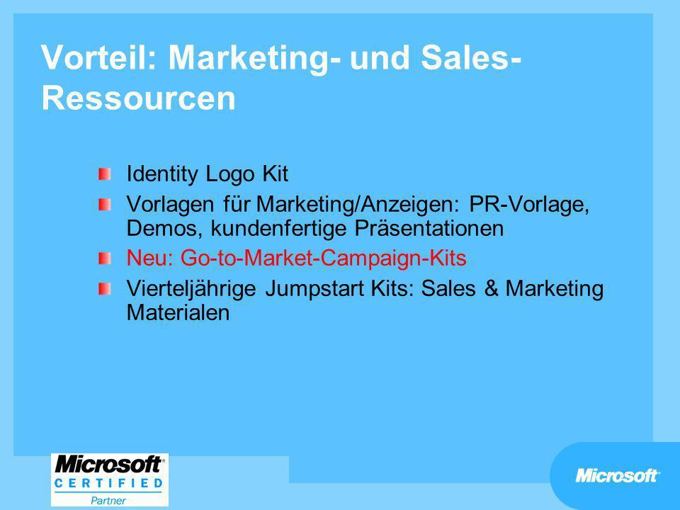 Vorteil: Marketing- und Sales-Ressourcen