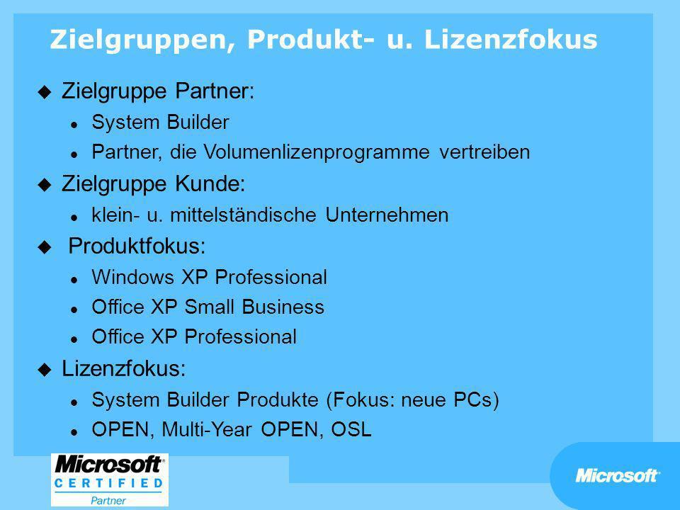 Zielgruppen, Produkt- u. Lizenzfokus