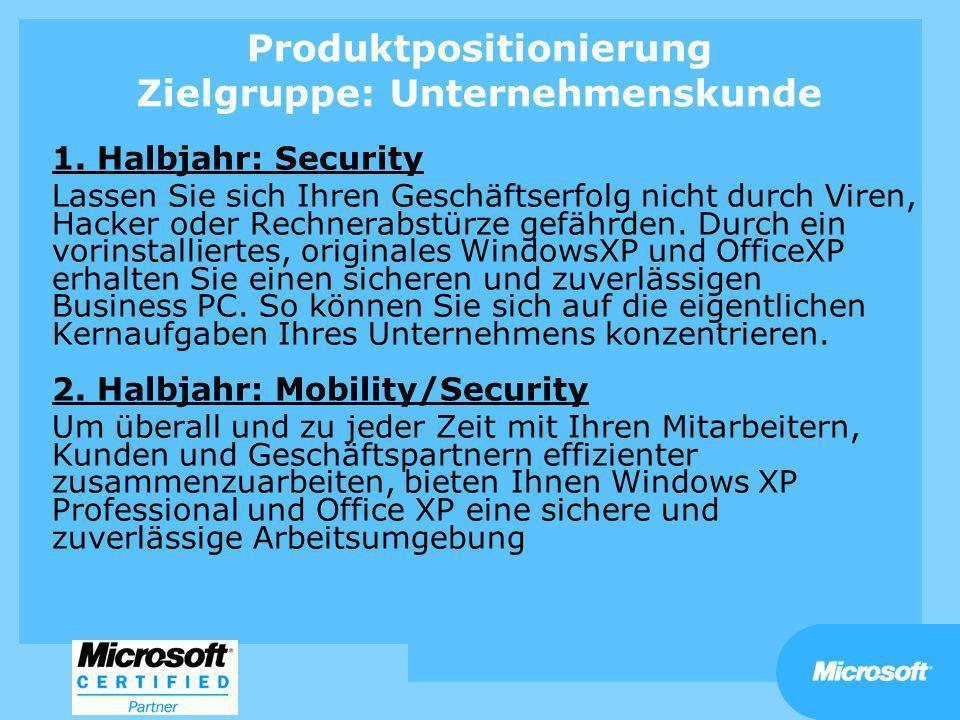 Produktpositionierung Zielgruppe: Unternehmenskunde