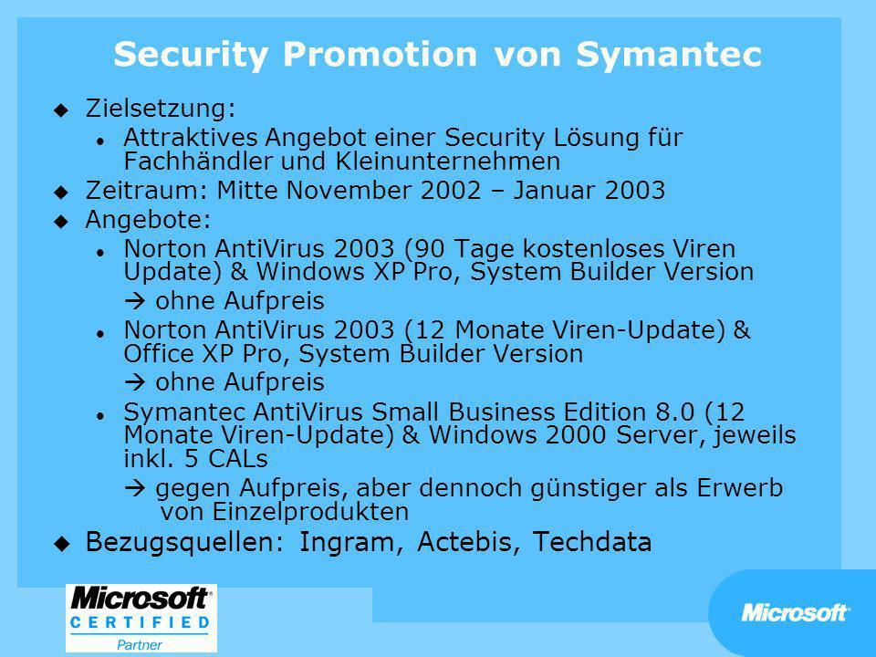 Security Promotion von Symantec