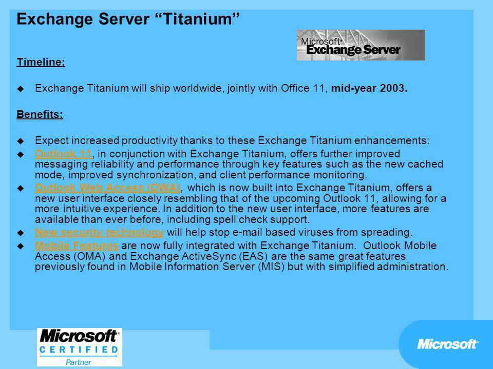 Exchange Server Titanium