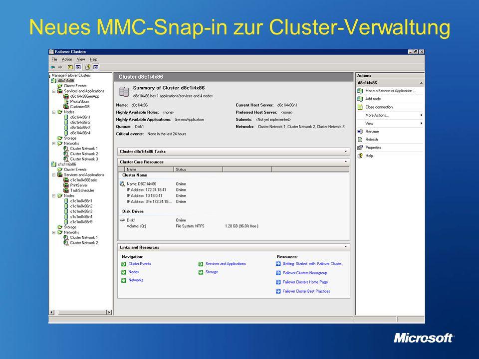 Neues MMC-Snap-in zur Cluster-Verwaltung