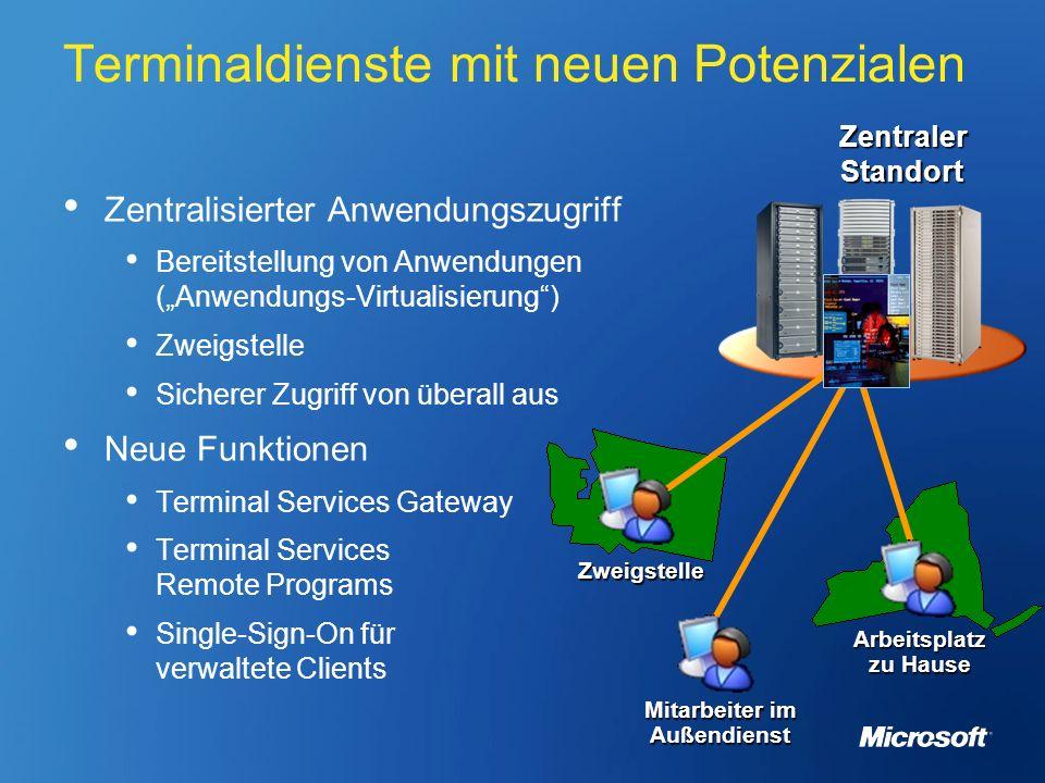 Terminaldienste mit neuen Potenzialen