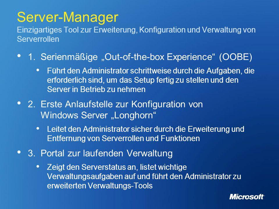Server-Manager Einzigartiges Tool zur Erweiterung, Konfiguration und Verwaltung von Serverrollen