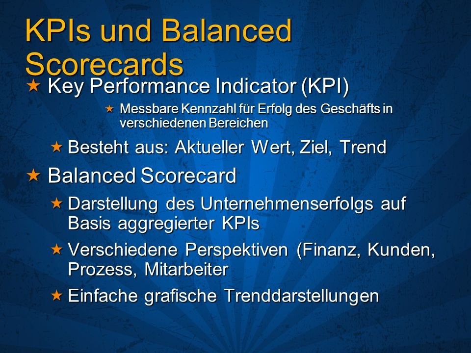 KPIs und Balanced Scorecards