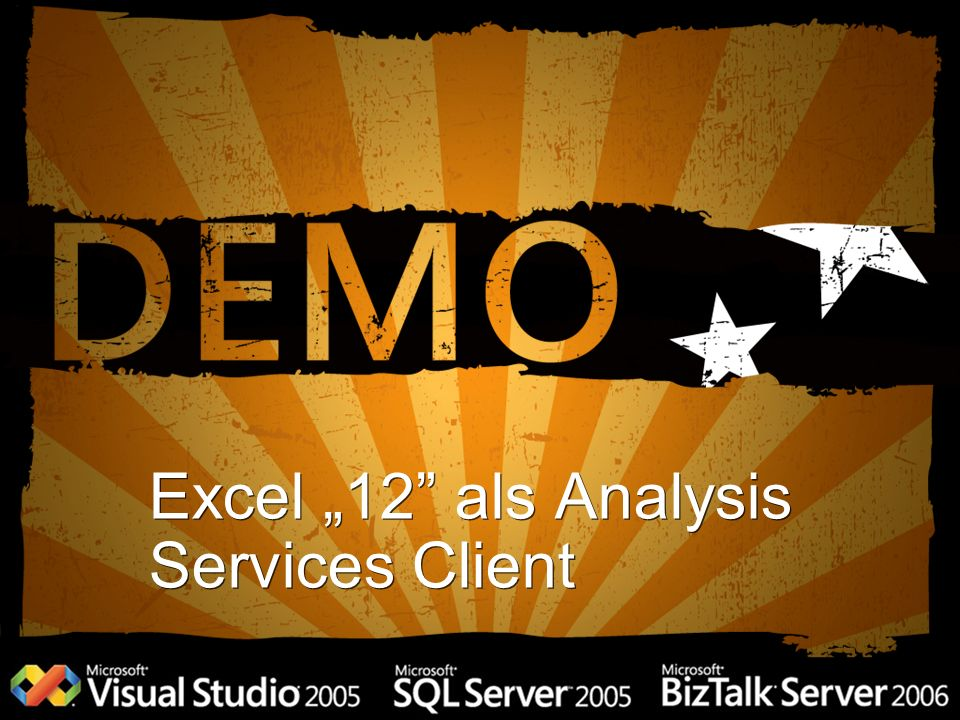"Excel ""12 als Analysis Services Client"