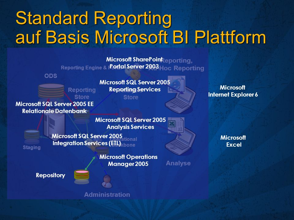 Standard Reporting auf Basis Microsoft BI Plattform