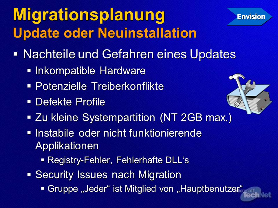 Migrationsplanung Update oder Neuinstallation