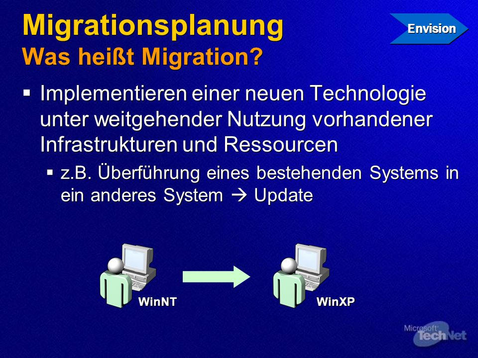 Migrationsplanung Was heißt Migration