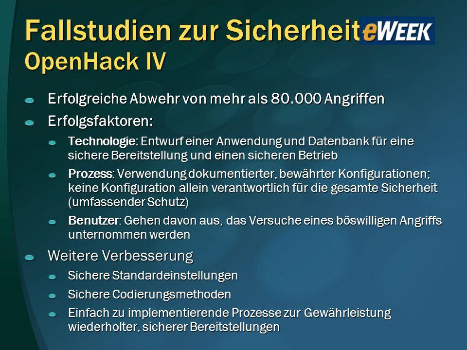 Fallstudien zur Sicherheit OpenHack IV