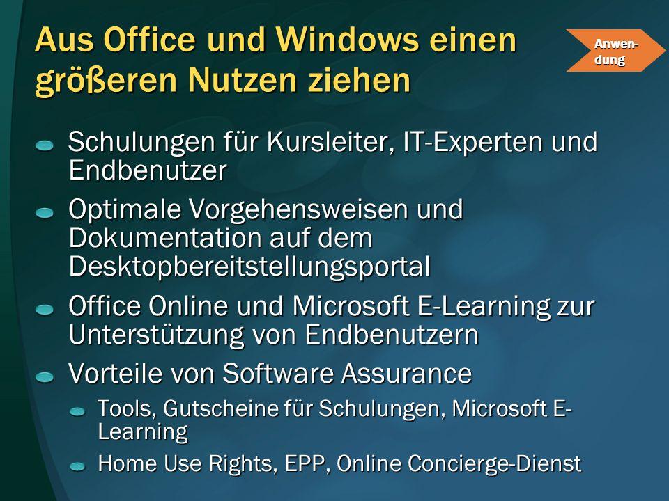 Aus Office und Windows einen größeren Nutzen ziehen